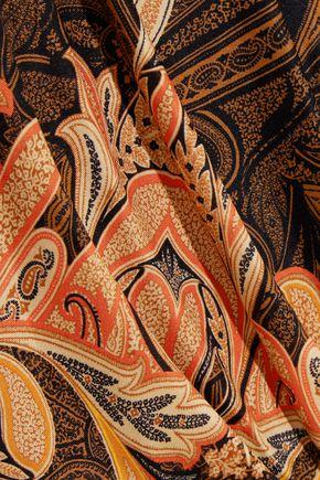 ETRO Paisley-print silk-jersey maxi dress
