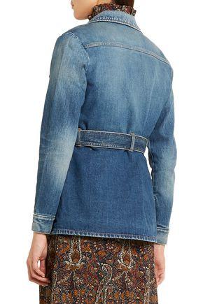 SAINT LAURENT Belted denim jacket