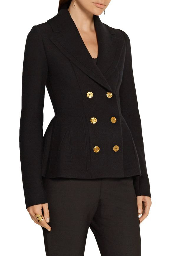 Double-breasted wool-blend peplum blazer | ALEXANDER MCQUEEN | Sale up to 70%  off | THE OUTNET