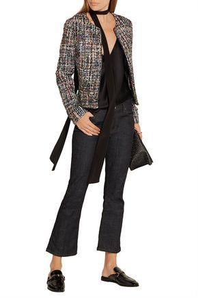 KARL LAGERFELD Metallic bouclé-tweed jacket