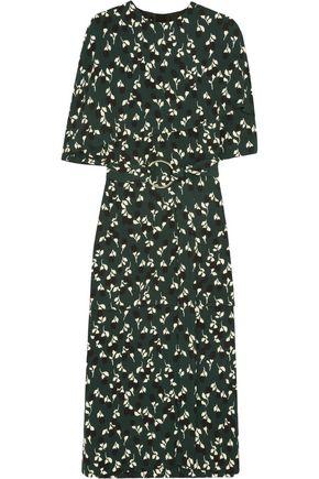 MARNI Floral-print crepe midi dress ...