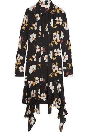 MARNI Floral-print silk-georgette midi dress