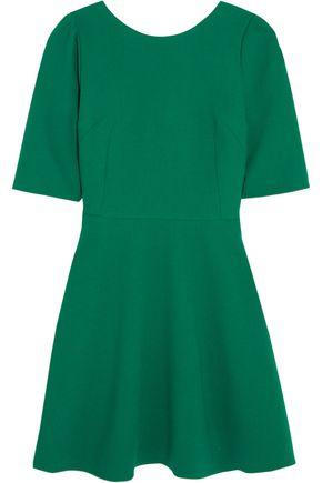 DOLCE & GABBANA Stretch-wool crepe mini dress