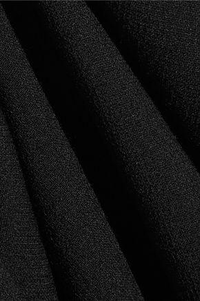 DOLCE & GABBANA Wool-blend crepe midi dress
