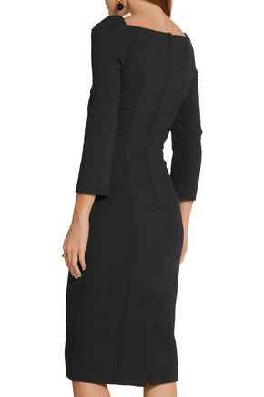 DOLCE & GABBANA Wool-blend crepe midi dress