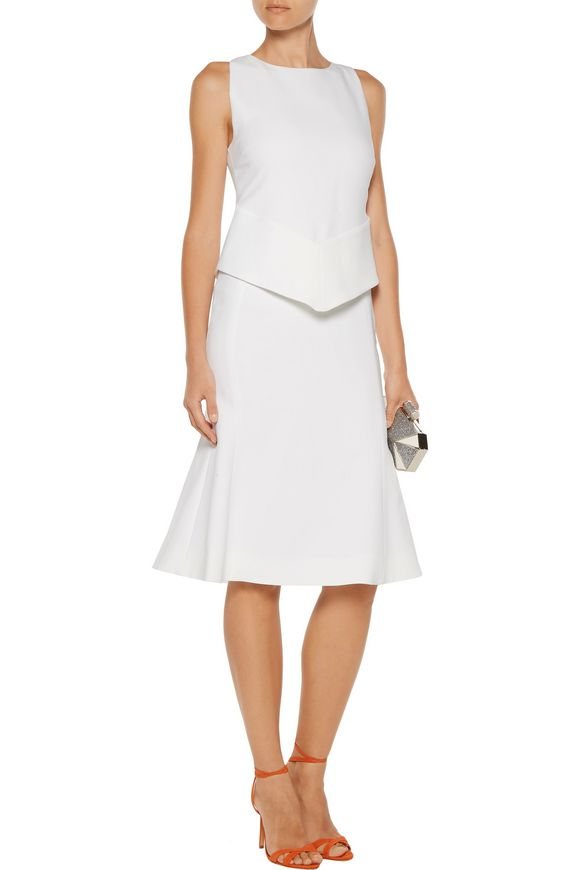 Layered stretch-cady dress | ANTONIO BERARDI | Sale up to 70% off | THE  OUTNET