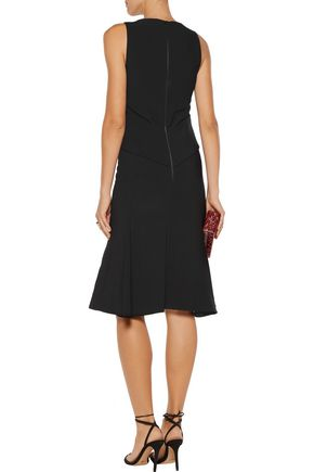 ANTONIO BERARDI Layered stretch-cady dress
