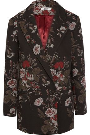 GANNI Cotton-blend brocade jacket