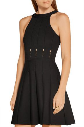 CUSHNIE ET OCHS Cutout stretch-knit mini dress