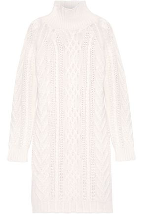 MAX MARA Granada cable-knit wool and cashmere-blend sweater dress