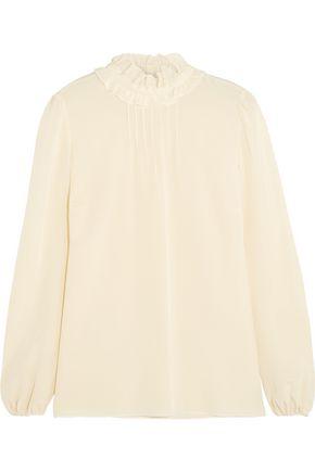 REDValentino Ruffled silk crepe de chine blouse