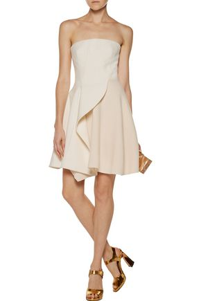 STELLA McCARTNEY Marcy ruffled wool-blend crepe mini dress