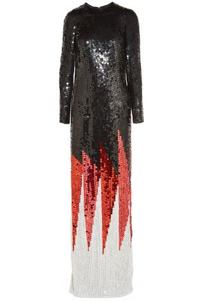 TOM FORD Sequined silk gown