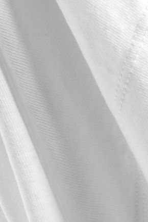 ALICE + OLIVIA Fabrice asymmetric cotton-blend jersey dress