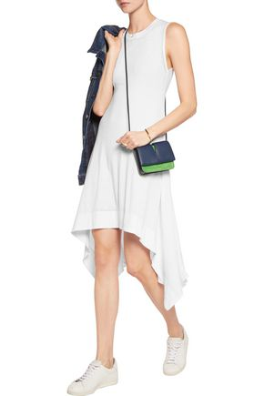 ALICE + OLIVIA Fabrice asymmetric cotton-blend jersey dress