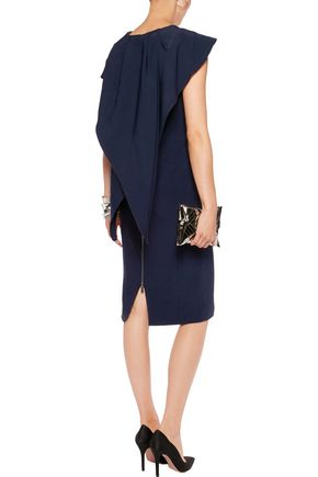 ANTONIO BERARDI Paneled crepe dress