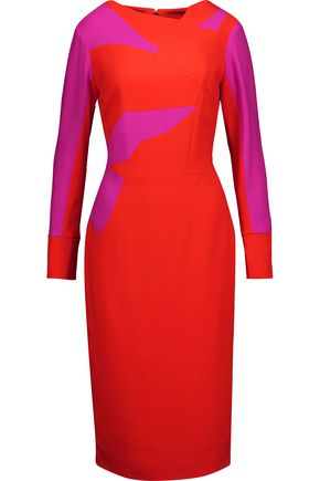 ANTONIO BERARDI Color-block crepe dress