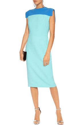 ANTONIO BERARDI Two-tone twill dress