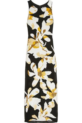 ALICE + OLIVIA Lucia embellished crepe maxi dress