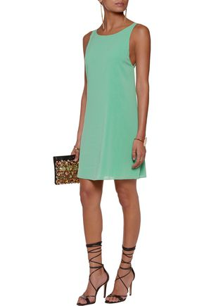 ALICE + OLIVIA Bayley cutout stretch-silk chiffon mini dress