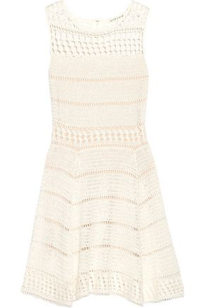 ALICE + OLIVIA Noella crocheted linen-blend mini dress