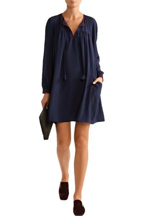 HATCH The Gemma embroidered crepe mini dress