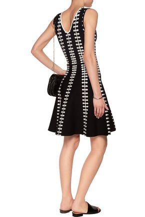 LINE Sabrina stretch intarsia-knit dress
