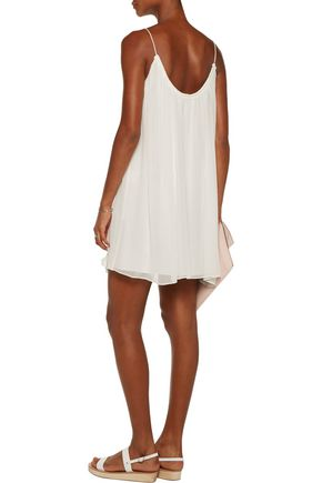 ELIZABETH AND JAMES Malie silk-georgette mini dress