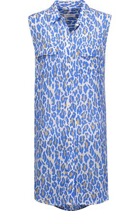 EQUIPMENT Printed washed-silk mini dress