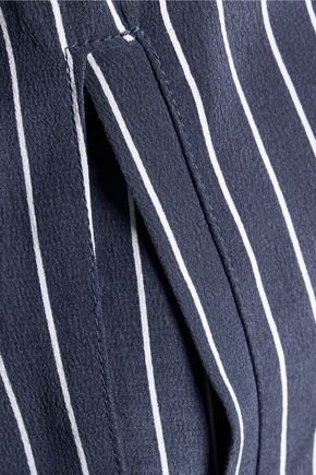 EQUIPMENT Blaine pinstriped washed-silk dress