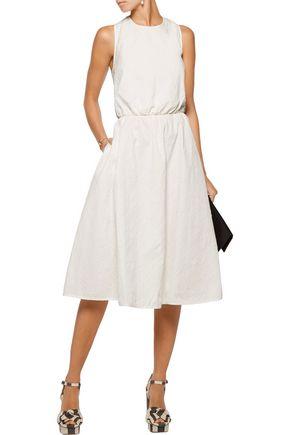 ROCHAS Cutout textured cotton-blend dress