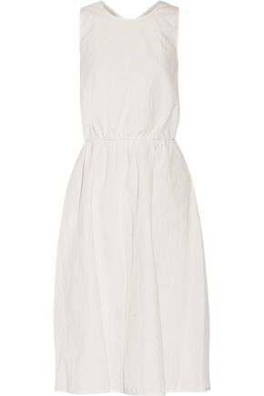ROCHAS Cutout textured cotton-blend dress