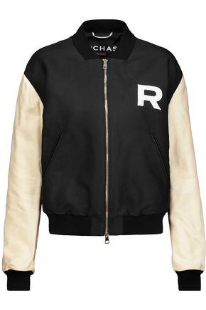 ROCHAS Twill bomber jacket