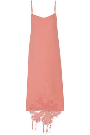 ROCHAS Embroidered crepe midi dress