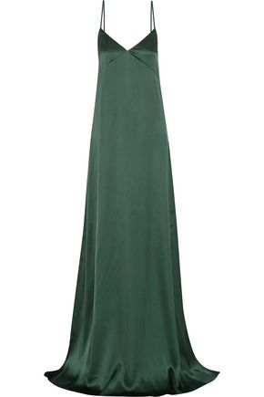 ROCHAS Ruffled silk-satin gown