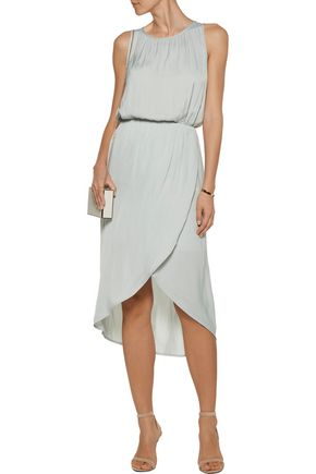 TART COLLECTIONS Hester wrap-effect crepe de chine midi dress
