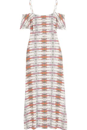 TART COLLECTIONS Tacita off-the-shoulder printed stretch-modal maxi dress