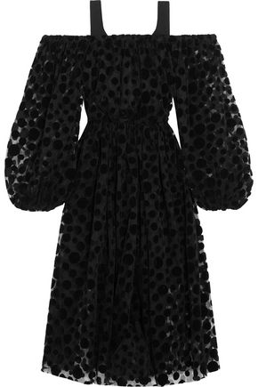 PASKAL Polka-dot flocked tulle dress
