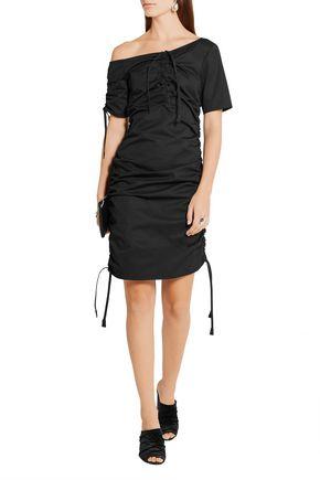 BARBARA CASASOLA Ruched cotton-gabardine dress