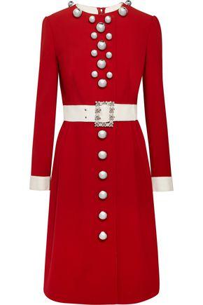 DOLCE & GABBANA Embellished wool-blend dress