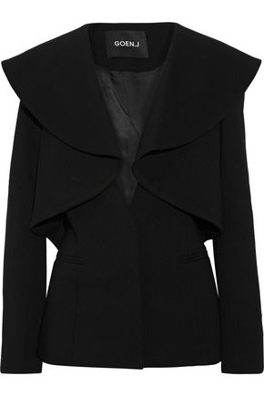 GOEN.J Ruffled wool-blend blazer