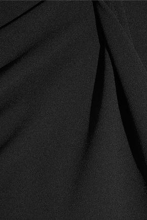 GARETH PUGH Draped one-shoulder crepe mini dress