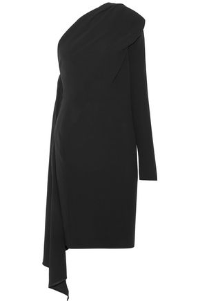 GARETH PUGH Draped one-shoulder crepe mini dress