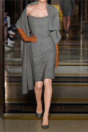 GARETH PUGH Prince of Wales checked wool dress