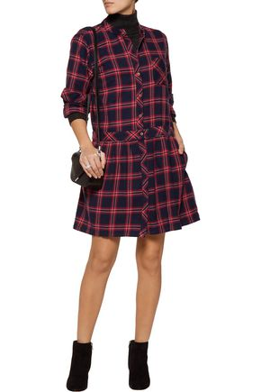 CURRENT/ELLIOTT The School Girl cotton-flannel mini dress