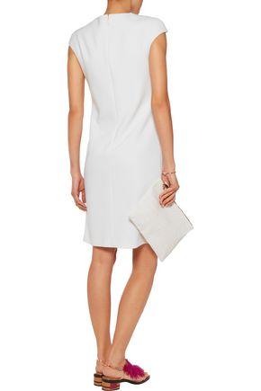 EMILIO PUCCI Wrap-effect wool-blend crepe dress