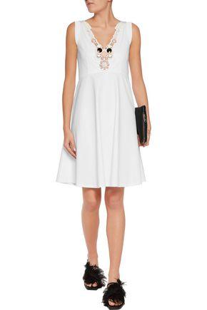 EMILIO PUCCI Embellished cotton-jersey dress