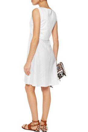 EMILIO PUCCI Cotton jersey-paneled voile mini dress