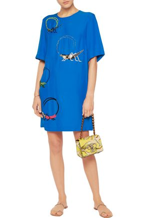EMILIO PUCCI Embellished crepe mini dress