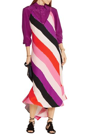 EMILIO PUCCI Printed crepe dress